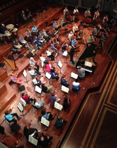 The Nashville Symphony rehearses Mendelssohn's Piano Concerto No. 1 with Carl St. Clair, conductor, & Benjamin Pasternack, piano, April 29, 2015