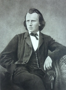 Johannes Brahms circa 1866; the Requiem was composed 1865-1868