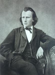Johannes Brahms circa 1866; the Requiem was composed 1865-1868