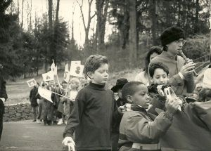 Chinese New Year parade at Blue Rock School, early 1900s