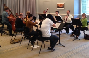 rehearsing the Nonet, April 11, 2015
