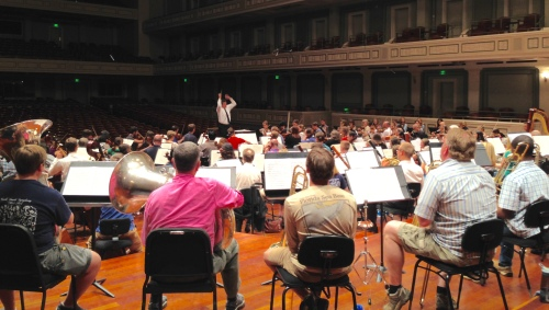 GIancarlo Cuerrero conducts rehearsal of Tchaikovsky's Romeo and Juliet Overture, May 20, 2015