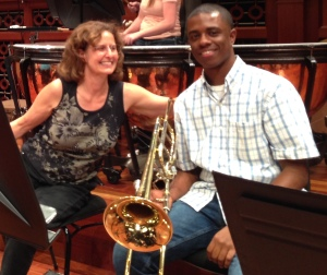 Susan K. Smith, Principal Trombone and Terrill Boykin, Curb Youth Symphony