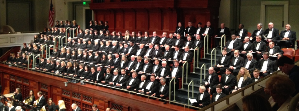 The Nashville Symphony Chorus assembled moments before a performance of Benjamin Britten's War Requiem, Op. 66, May 29, 2015