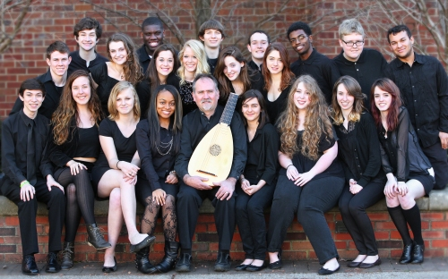 Nashville School of the Arts Madrigal Singers 2012-2013, photo by Leila Grossman - the portrait that was taken on the auspicious day that the partnership between Blair School of Music and NSA began