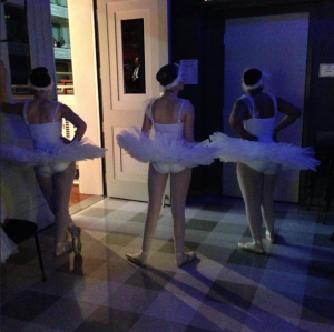 from my Instagram feed: NSA dancers wait for their cue during a performance of Swan Lake with the Nashville Symphony at Schermerhorn, February 11, 2015