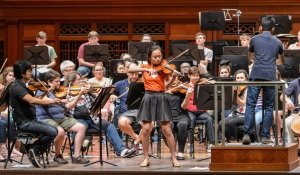 2015 Curb Concerto Competition winner Kaili Wang (age 15) rehearses with Vinay Parameswaran and the Nashville Symphony, May 20, 2015