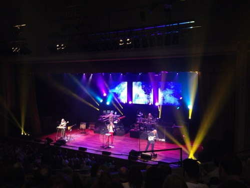 Yes at the Ryman Auditorium, July 28, 2014, Nashville, Tennessee - Chris is on the right