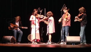 """Sawing on the Strings"" perform at the Vanderbilt Music & Mind Kickoff, August 1, 2015"