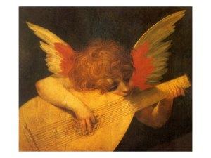 musician angel by Rosso Fiorentino, circa 1520
