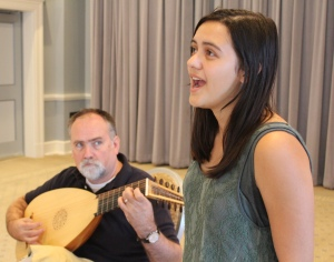 rehearsing Dowland with Brooke Semar ~ September 23, 2015