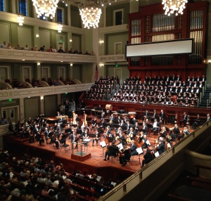 The Nashville Symphony before performing On the Transmigration of Souls by John Adams and Beethoven's Ninth Symphony, September 13, 2015