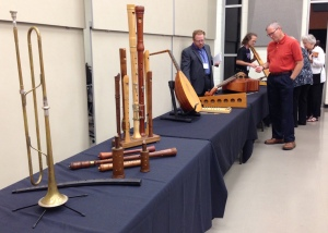 renaissance and baroque instruments on display during NEMF, including the collection of the late Dr. Gerald Moore