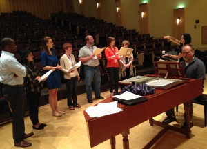 Participants Chorus - Mareike Sattler is not pictured as she was taking the photo