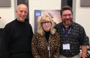 Nashville Early Music Festival: (l to r) Francis Perry, Artistic Director; Mitzi Thompson-Matlock, Director of Marketing and Publicity; Dustin Art Williams, Executive Director