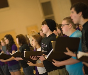 Nashville School of the Arts Festival Choir rehearses selections from the Mozart Requiem, April 28, 2012