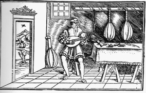 woodcut (is it Francesco?) from Intabolatura de leuto de diversi autori published at Milan in 1536 by Giovanni Antonio Casteliono (know today as the casteliono lute book)