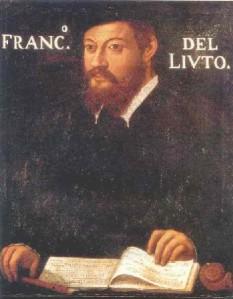 anonymous portrait thought to be Francesco da Milano, c. 1535, now in the Pinacoteca Ambrosiana, Milan