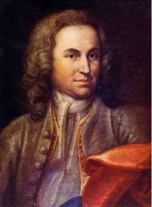 disputed portrait of our friend Sebastian by Johann Ernst Rentsch the Elder (d. 1723) painted c. 1715, which would make him 30 years old here. Sebastian wrote the Brandenburgs in his early to mid thirties and submitted them to the Margrave in 1721