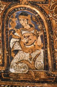 lutenist on the ceiling of the Cappella Palatina, Palermo