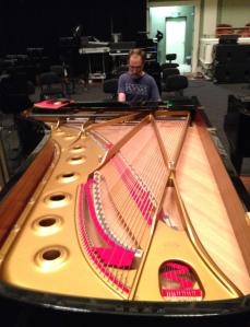 Roger Wiesmeyer at the 9' Hamburg Steinway, Laura Turner Hall, November 11, 2015