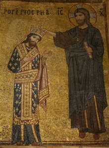 Roger II receives his crown from Christ! (12th century mosaic)