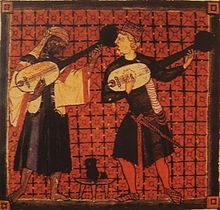 Muslim and Christian lutenists from Cantigas de Sancta Maria