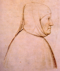 Petrarch ~ contemporary portrait by Altichiero (c.1330-c.1390)
