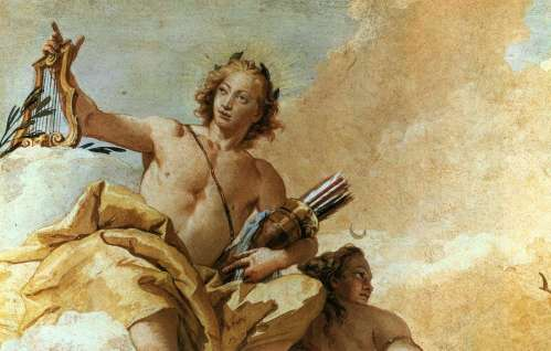 Apollo and Diana by Giovanni Battista Tiepolo (1696-1770), Villa Valmarana, Vicenza