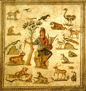 Orpheus ~ ancient Roman floor mosaic, Palermo ~ photo by Giovanni Dall'Orto