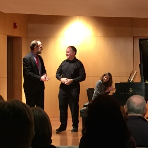 with Roger after a performance of Mozart's C minor piano concerto, November 19, 2015, W.O. Smith Music School, Nashville ~ photo by Kelley Bell