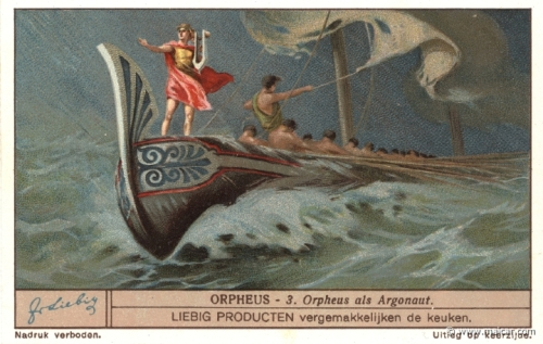 Orpheus with the Argonauts ~ Liebig trading card, circa 1931