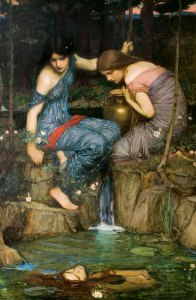 Nymphs finding the head of Orpheus, 1900 by John William Waterhouse (1849-1917)