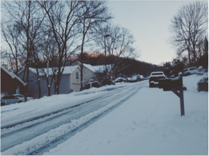 from my Instagram feed: snowed in on Saturday
