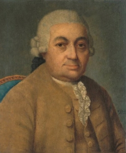 Carl Philipp Emanuel Bach ~ portrait by Franz Conrad Löhr after Johann Philipp Bach