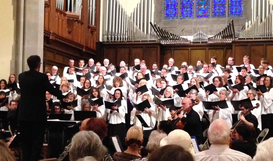the combined Chancel & Sanctuary choirs of West End United Methodist Church perform Morten Lauridsen's Lux Aeterna under the direction of Matther Phelps ~ March 6, 2016, Nashville