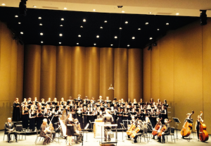 conducting the Fauré Requiem with the Nashville School of the Arts Festival Choir, Mary Biddlecombe, soprano & Tucker Biddlecombe, tenor, May 12, 2014, Ingram Hall, Blair School of Music, Vanderbilt University