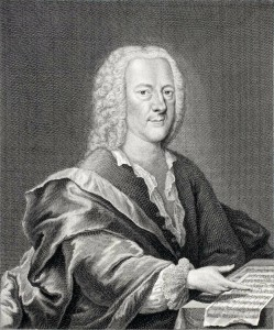 Georg Philipp Telemann ~ Engraving by Georg Lichtensteger, c. 1745.