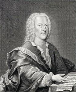 Georg Philipp Telemann ~ Engraving by Georg Lichtensteger, c. 1745.