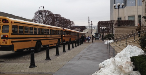 Students arrive at Schermerhorn Symphony Center to attend a Nashville Symphony Young People's Concert. January 26, 2016