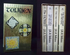 this is what my first copies of The Hobbit and The Lord of the Rings looked like