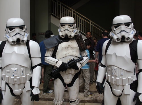 storm troopers take over the west lobby, Blast Off! ~ April 16, 2016