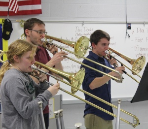 sectional rehearsal with Nashville Symphony Principal Trombone Paul Jenkins and Tennessee MidState Trombones