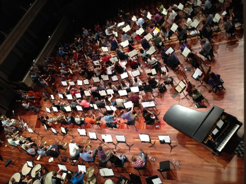 side by side rehearsal with the Nashville Symphony and Curb Youth Symphony, May 18, 2016
