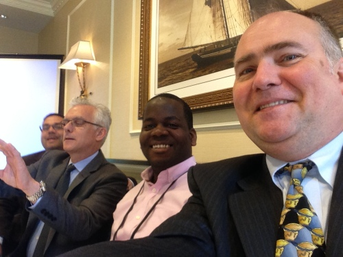 from my instagram feed ~ selfies before the panel: (l to r) Ahmad Mayes, Peter Landgren, Stanford Thompson, WB