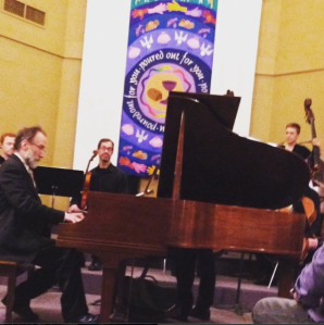 from my instagram feed: Roger Wiesmeyer plays Mozart, 14th annual Mozart's Birthday Concert, January 31, 2016, Edgehill United Methodist Church, Nashville