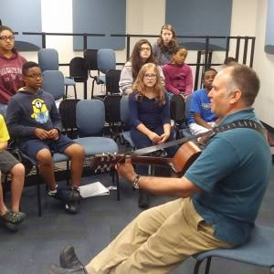 """singing """"Ho! Young Rider"""" with students at MET Summer Academy, Tennessee State University, Nashville, June 22, 2016"""