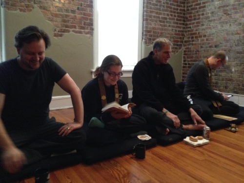 Saturday morning book study at Nashville Zen Center ~ 12 South Dharma Center, February 8, 2014