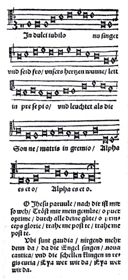 In dulci jubilo, Geistliche lieder auffs new gebessert zu Wittemberg (Klug'sches Gesangbuch 1533)