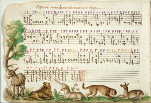 a page from the Capirola Lute Book